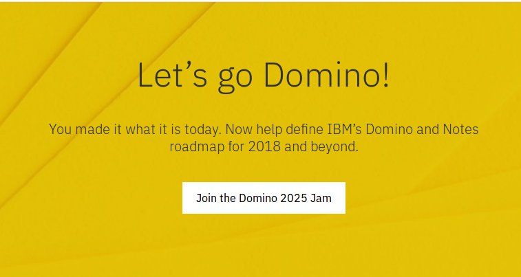IBM Champion and the Domino Jam